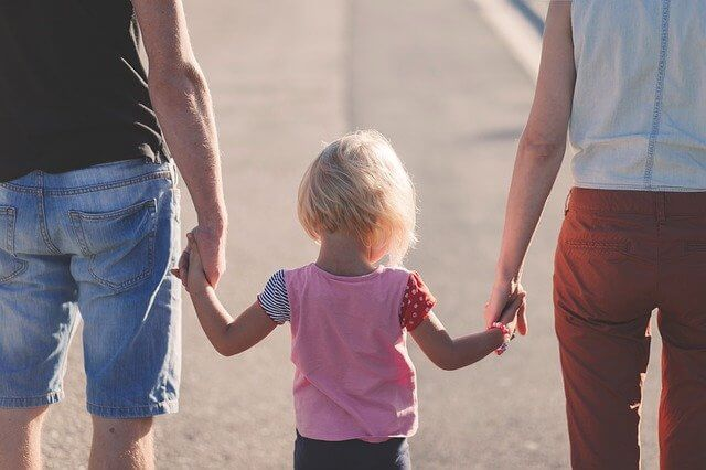 Family holding hands